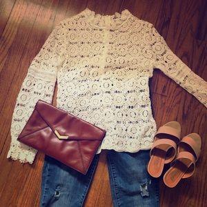 Tops - Lacy, retro blouse